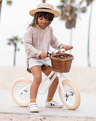 Banwood Balance Bike First Go, White - For Girls from 3 to 5 years old!  Balance Bikes