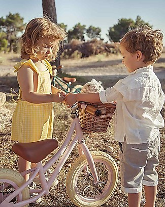Banwood Balance Bike First Go with Helmet, Pink - From 3 to 5 years! Balance Bikes