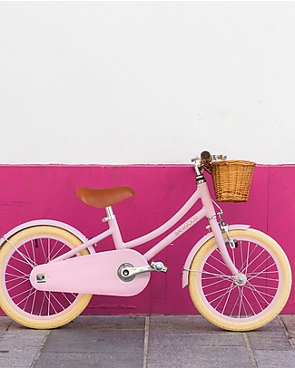 Banwood Classic Bicycle with Helmet, Pink - from 4 to 7 years old Bycicles