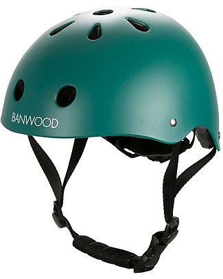 Banwood Classic Bike Helmet, Dark Green - For Kids from 3 to 7 Years old! Balance Bikes