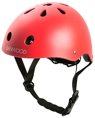 Banwood Classic Bike Helmet, Red - For Kids from 3 to 5 Years old! Balance Bikes