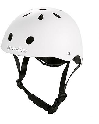 Banwood Classic Bike Helmet, White - For Girls from 3 to 5 Years old! Balance Bikes