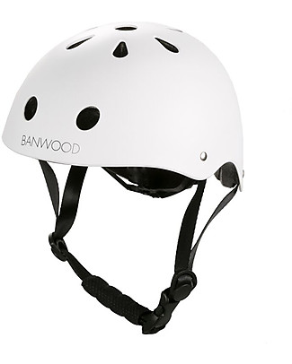 Banwood Classic Bike Helmet, White - For Girls from 3 to 7 Years old! Balance Bikes