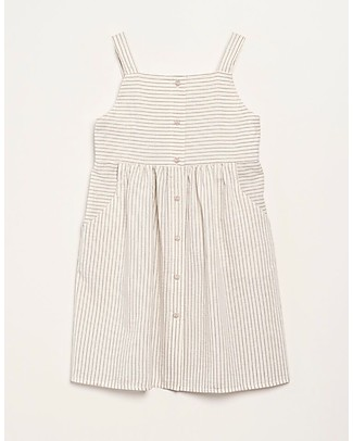 Barn of Monkeys Dress with Straps and Bottons - 100% organic cotton Dresses