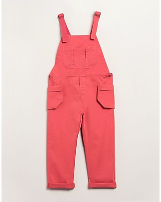 Barn of Monkeys Jumpsuit with Removable Pockets, Pink - 100% organic cotton Dungarees
