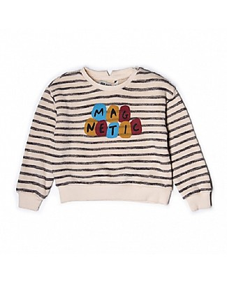 Barn of Monkeys Magnetic Long Sleeves Baby Sweatshirt, Stripes/Neutral - Cotton Sweatshirts