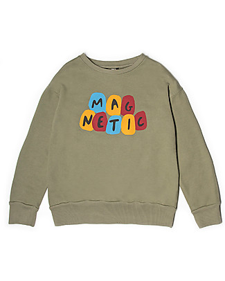 Barn of Monkeys Magnetic Long Sleeves Basic Sweatshirt, Earth - 100% organic cotton Sweatshirts