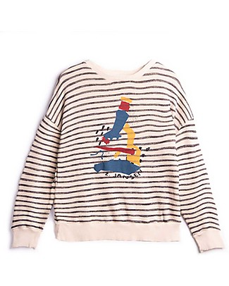 Barn of Monkeys Microscope Long Sleeves Basic Sweatshirt, Neutral - Organic Cotton Sweatshirts