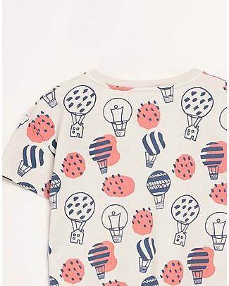 Barn of Monkeys Printed T-shirt Ballons, Sand - 100% organic cotton T-Shirts And Vests