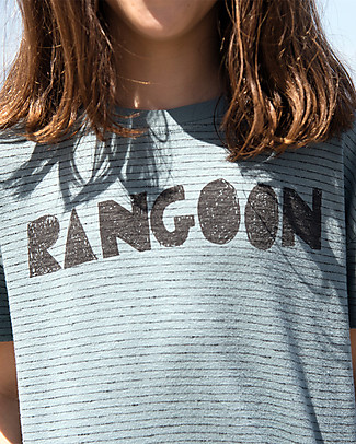 Barn of Monkeys Printed T-Shirt Rangoon, Cloud - 100% organic cotton T-Shirts And Vests