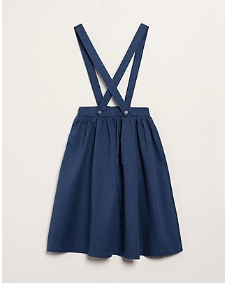 Barn of Monkeys Short Skirt with Straps, Indigo - 100% organic cotton Skirts