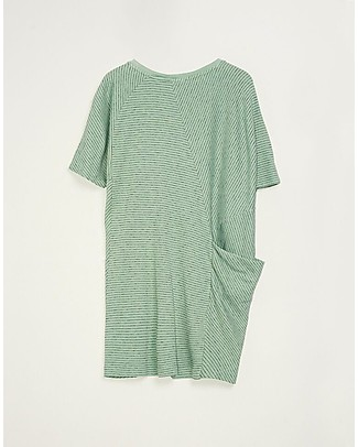 Barn of Monkeys Tunic Dress with Asymmetric Short Sleeves, Mint - 100% organic cotton Dresses