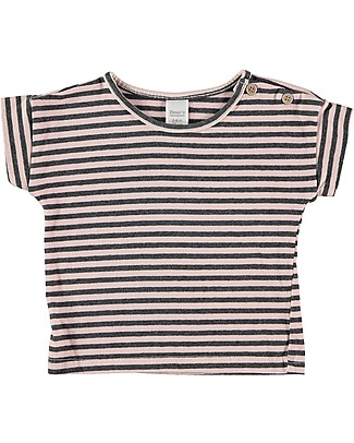 Bean's Barcelona Girl Striped T-shirt Alicante, Pink - Organic cotton T-Shirts And Vests