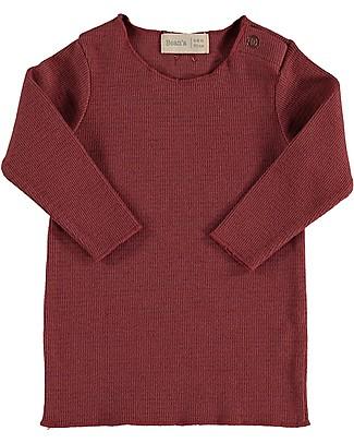 Bean's Barcelona Lake Rib T-shirt, Tile - Organic cotton Long Sleeves Tops
