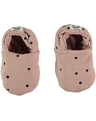Bean's Barcelona New Born Printed Shoes Trysil, Pink - Organic cotton Shoes