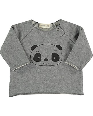 Bean's Barcelona Panda Sweatshirt, Grey - Organic cotton Sweatshirts