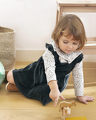 Bean's Barcelona Sleeveless Dress with Trims Grass, Anthracite - Velour Dresses
