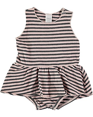Bean's Barcelona Sleeveless Striped Dress-Body Cagliari, Pink - Organic cotton Short Sleeves Bodies