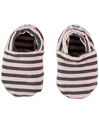 Bean's Barcelona Striped Baby Shoes Saint Tropez, Pink - Organic cotton Shoes