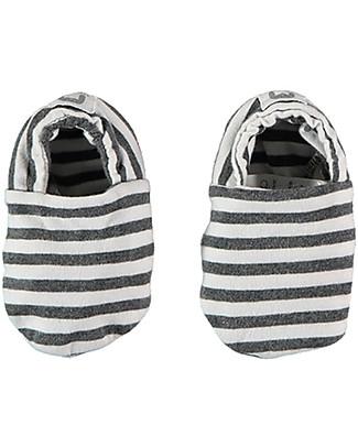 Bean's Barcelona Striped Baby Shoes Saint Tropez, White - Organic cotton Shoes