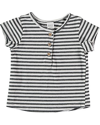 Bean's Barcelona Striped T-shirt Mahón, White - Organic cotton T-Shirts And Vests