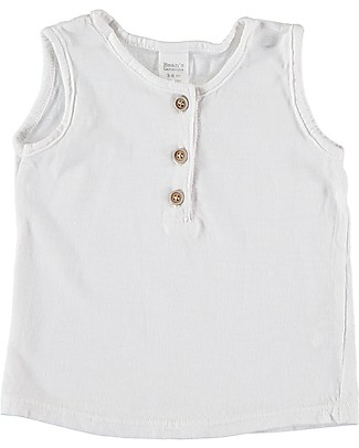 Bean's Barcelona Tank Baby T-shirt Roses, White - Organic cotton T-Shirts And Vests