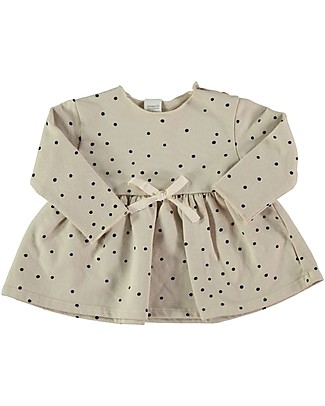 Bean's Barcelona Vail Long Sleeved Snow New Born Dress, Stone - 100% organic cotton Dresses