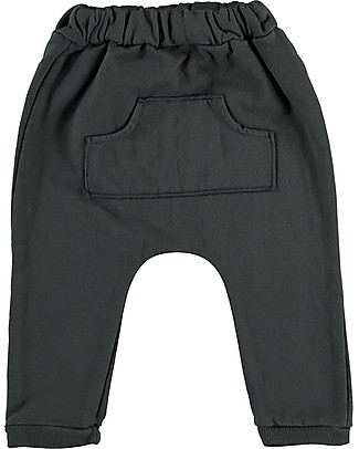 Bean's Barcelona Waterfall Sweat Pants with Pockets, Anthracite - Organic cotton Trousers