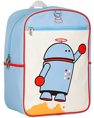 Beatrix NY Big Kid Backpack 27.5 x 38 x 15 cm, Boy Robot - Perfect for school! Large Backpacks