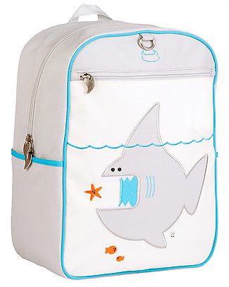 Beatrix NY Big Kid Backpack 27.5 x 38 x 15 cm, Nigel the Shark - Perfect for school! Large Backpacks