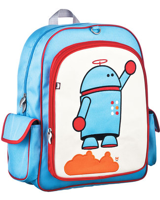 Beatrix NY Big Kid Backpack Alexander the Robot - Durable, PVC and BPA free! (perfect for school/Ages 5-10!) Large Backpacks