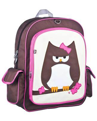 Beatrix NY Big Kid Backpack Papar the Owl - Durable, PVC and BPA free! (perfect for school/Ages 5-10!) Large Backpacks