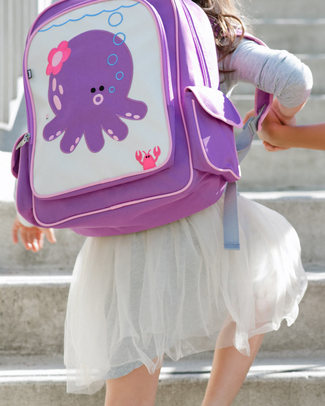 Beatrix NY Big Kid Backpack Penelope the Octopus - Durable, PVC and BPA free! (perfect for school/Ages 5-10!) Large Backpacks