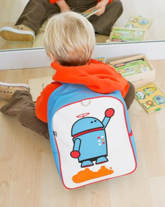 Beatrix NY Little Kid Backpack Alexander the Robot - durable, PVC and BPA free! (perfect for Ages 2-4) Small Backpacks