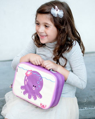 Beatrix NY Penelope the Octopus Insulated Lunch Box - Durable and Safe (BPA and PVC Free) Lunch Boxes