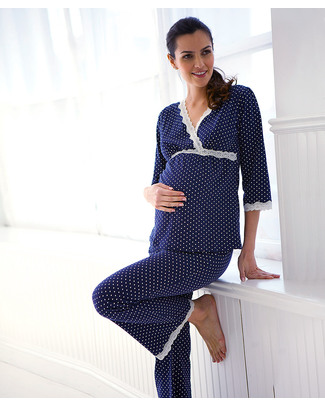 Belabumbum Dottie - Pyjama and Lounge Set - Navy with polka dots Pyjamas