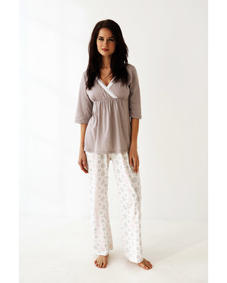 Belabumbum Starlit Maternity & Nursing Tunic & Pant Set (2 pieces) - 100% Pima Cotton Pyjamas