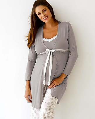 Belabumbum Starlit Maternity Robe - Grey/Pink Robes