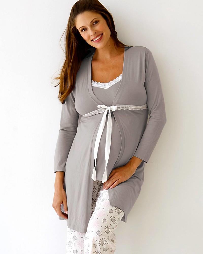 Belabumbum Starlit Maternity Robe - Grey/Pink woman