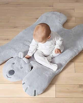 Bemini Deco Playmat Bear 75x110 cm, Baloo Plum - Grey Playmats