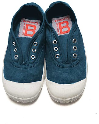 Bensimon Elly Tennis Shoes without Laces, Blue - Cotton Shoes