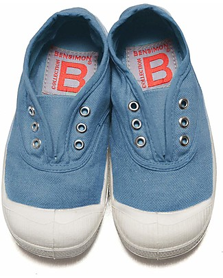 Bensimon Elly Tennis Shoes without Laces, Denim - Cotton Shoes