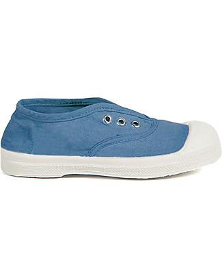 Bensimon Elly Tennis Shoes without Laces, Denim - Cotton Shoes