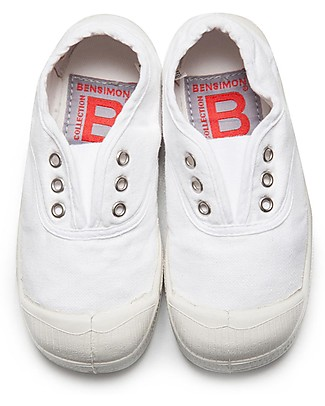 Bensimon Elly Tennis Shoes without Laces, White - Cotton Shoes