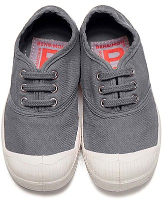 Bensimon Tennis Shoes with Laces, Gray - Cotton Shoes