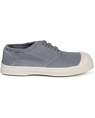 Bensimon Tennis Shoes with Laces, Gray - Cotton Shoes