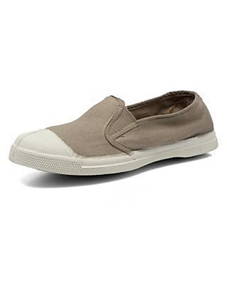 Bensimon Tommy Tennis Shoes Elasticated, Eggshell- Cotton Shoes