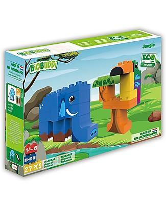 BioBuddi Eco Building Blocks Wildlife 2 in 1, Jungle - 27 blocks  Building Blocks