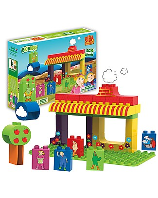 BioBuddi Eco-friendly Building Blocks Biba Farm, The Farm - 36 blocks  Building Blocks