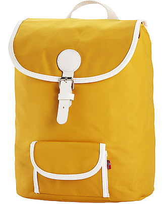 Blafre Backpack for Children aged 5-10 years, Yellow - Water-resistant, real leather details Large Backpacks